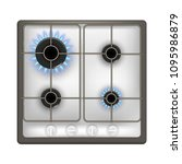 realistic detailed 3d gas stove ... | Shutterstock .eps vector #1095986879