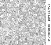 seamless floral doodle... | Shutterstock .eps vector #1095987929