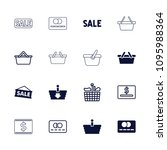 purchase icon. collection of 16 ... | Shutterstock .eps vector #1095988364