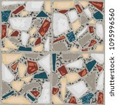 terrazzo floor marble hand...   Shutterstock .eps vector #1095996560