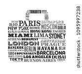 vector design of a travel bag... | Shutterstock .eps vector #1095997238