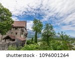 burg gutenberg in the alps.... | Shutterstock . vector #1096001264