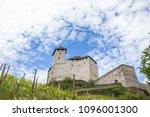 burg gutenberg in the alps.... | Shutterstock . vector #1096001300