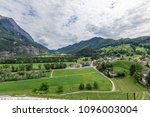 view of the city with vineyard... | Shutterstock . vector #1096003004