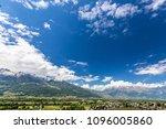 view of the alps in vaduz ... | Shutterstock . vector #1096005860