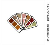 color sample fan card icon... | Shutterstock .eps vector #1096007759