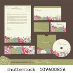corporate identity set with...   Shutterstock .eps vector #109600826