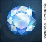 shiny abstract blue diamond...   Shutterstock .eps vector #1096009658
