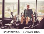 senior man working exercise on... | Shutterstock . vector #1096011803