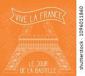 bastille day. july 14. french... | Shutterstock .eps vector #1096011860