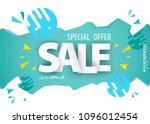 sale banner template design for ... | Shutterstock .eps vector #1096012454