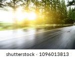 asphalt road with tree lawns... | Shutterstock . vector #1096013813