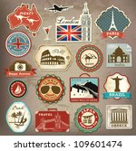 collection of vintage retro... | Shutterstock .eps vector #109601474