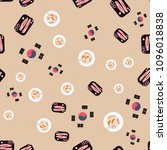 seamless pattern with korean... | Shutterstock .eps vector #1096018838