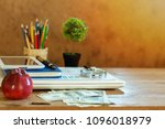 education and business mixed... | Shutterstock . vector #1096018979