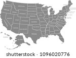 united states map vector... | Shutterstock .eps vector #1096020776