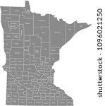 minnesota county map vector... | Shutterstock .eps vector #1096021250