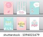 set of baby shower invitations...   Shutterstock .eps vector #1096021679
