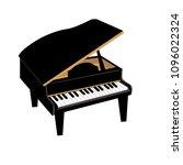 piano instrument illustration   Shutterstock .eps vector #1096022324