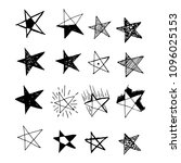 hand drawn star icon doodle | Shutterstock .eps vector #1096025153