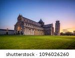 leaning tower of pisa in pisa ... | Shutterstock . vector #1096026260