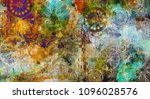 art abstract colorful geometric ... | Shutterstock . vector #1096028576