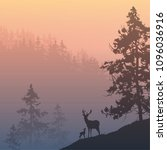 natural background with deers... | Shutterstock .eps vector #1096036916