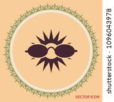 sun and glasses  vector icon   Shutterstock .eps vector #1096043978