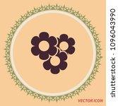 simple flowers  vector logo   Shutterstock .eps vector #1096043990