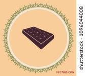 mattress icon  vector design...   Shutterstock .eps vector #1096044008