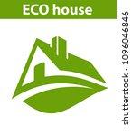 logo eco house   Shutterstock .eps vector #1096046846