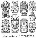 vintage monochrome maya... | Shutterstock .eps vector #1096047653