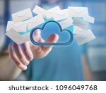 view of a blue cloud surrounded ... | Shutterstock . vector #1096049768