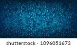 abstract blue hexagons pattern...   Shutterstock .eps vector #1096051673