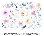 hand drawing isolated boho...   Shutterstock . vector #1096057430