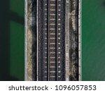 Aerial View Of Train Railway...