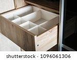 wardrobe with sliding doors and ... | Shutterstock . vector #1096061306