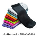 socks of different color are... | Shutterstock . vector #1096061426