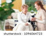 smiling grandmother in a... | Shutterstock . vector #1096064723