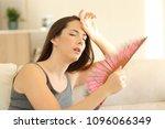 Woman suffering a heat wave...