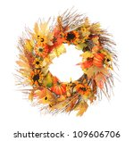 Thanksgiving Wreath Isolated...