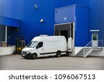 van in loading and unloading... | Shutterstock . vector #1096067513