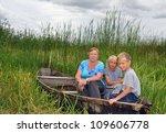 grandmother with grandchildren... | Shutterstock . vector #109606778