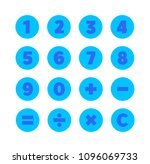 numbers and mathematical... | Shutterstock .eps vector #1096069733