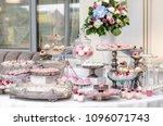 delicious wedding reception...   Shutterstock . vector #1096071743