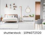 spacious designer white bedroom ... | Shutterstock . vector #1096072520