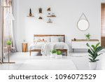 morning in a bright and sunny... | Shutterstock . vector #1096072529