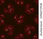 seamless pattern.  red hearts...   Shutterstock .eps vector #1096072928