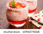 a serving of strawberry over... | Shutterstock . vector #1096074068