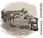 landmarks of sofia  sofia...   Shutterstock .eps vector #1096080386